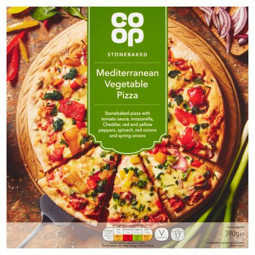 Co Op Stonebaked Mediterranean Vegetable Pizza 390g